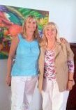 Sharon King and Caryl Westmore after their Matrix courses in Cape Town 2011