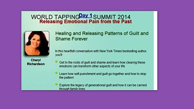 EFT Tapping to heal shame with Cheryl Richardson