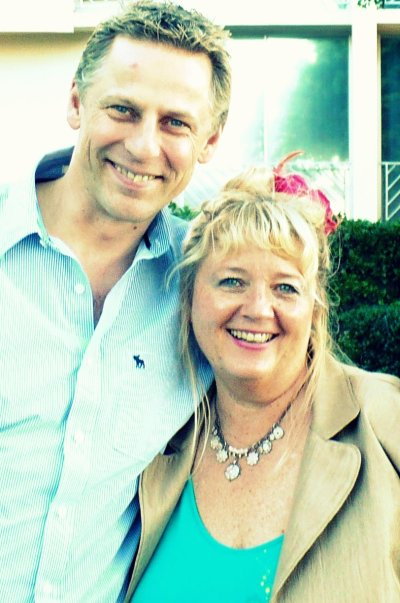 KARL DAWSON WITH CARYL WESTMORE IN CAPE TOWN